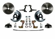 Leed Brakes Fc1003-lbb4 Front Disc Brake Kit W/2 In. Drop Spindles Gm A/f/x-body