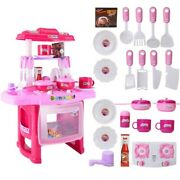 Full Sets Girls Playhouse Pretend Playset Kitchen Toys With Lots Spatula Pots Gi