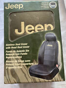 New In Box Jeep Leather Sideless Car Truck 1 Front Seat Covers Universal Fit