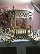 Barbie Doll House Arched Gazebo. New Wood Wooden Dolls .can Be Painted
