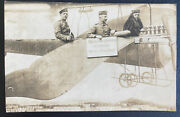 Mint Germany Rppc Postcard Early Aviation 1916 Wwi German Airforce