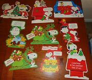 Vintage Christmas Hallmark Peanuts Cut Outs Wall Decor Charlie Brown, Snoopy 9