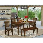 6 Pc - Table With Leaf 4 Chairs Plus And A Bench -