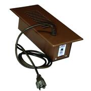 Floor Vent Cover Register Booster Fan Air Vent Duct Thermostat Hvac In Brown