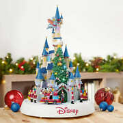 Disney - Animated Castle With Lights And Music - Christmas, Mickey Pooh Donald