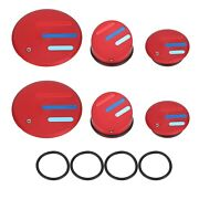 Red Frame End Caps Blanking Plugs For Bmw R1200 R1250 Gs Lc + Adventure 2013+