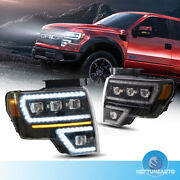 Pair Projector Headlight W/sequential Turn Signal For 2009-2014 Ford F150 Front