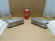 2 Nos Real 1960s Cragar Gt 1004 Aluminum 7 Valve Cover Breathers Chevy Ford