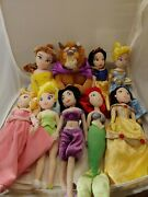Disney Store Plush Doll Lot Of 9 Ariel Pre-owned