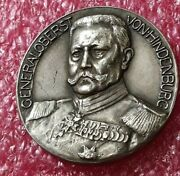 1914 German President General Wwi Patriotic Silver Russian Front By Wental