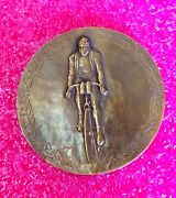 1912 French Human Rights League Henri Guernut Medal Cycling / Rare