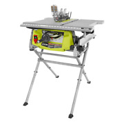 Ryobi Table Saw 15 Amp 5000 Rpm 10 In. Blade Folding-stand Integrated Storage