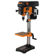 Bench Drill Press 10 In. 5 Amp Variable Speed Laser Guide Chuck Key Storage