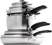 Greenpan Levels Stainless Steel Healthy Ceramic Nonstick, Cookware Pots And Pans