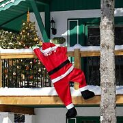 42 Inch Christmas Hanging Santa Claus Suit For Christmas Outdoor Decorations