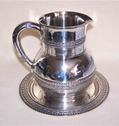 And Co Antique Victorian Dated 1880 Sterling Silver Water Pitcher And Tray