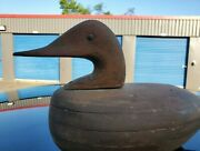 Old Canvasback  Decoy Duck Antique 14'' L 8'' T 5.75'' W