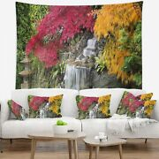 Designart 'japanese Maple Trees' Floral Wall Tapestry Small