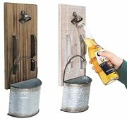 2pcs Beer Bottle Opener Wall Mounted With Cap Catcher For Beer Lovers Kitchen...