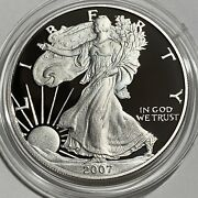 American Silver Eagle 2007-w Ultra Cameo Proof 1with Box And Coa