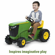 John Deere Pedal Powered Tractor, Kids Ride-on Toy Tractor, Green