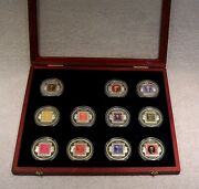United States Presidential Stamps Coin / Medallion Collection W/ Qty 11 Medals