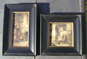 Antique New Orleans Hand Tinted Photos By Swinney On Milk Glass 1930's