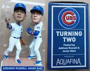 2017 Chicago Cubs Baseball Russell And Baez -- 7/5/17 Turning Two Bobblehead Tb