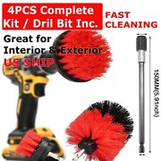4pcs Drill Brush Set Power Scrubber Drill Attachments Carpet Tile Grout Cleaning