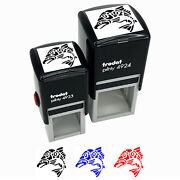 Native American Salmon Indian Tribal Fish Self-inking Rubber Stamp Ink Stamper