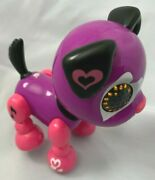 Interactive 3.5 Purple Pink Zoomer Zupps Dog - Lighted With Sound Effects