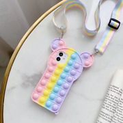 Fidget Toy Phone Case For Iphone For 6/6s/7/8 Plus 5.5 Rainbow