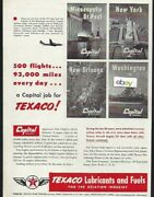 Capital Airlines 500 Flights And 93k Miles A Day With Texaco Airline Posters Ad