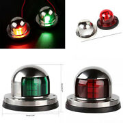 Two Pair 12v Stainless Led Bow Navigation Lights Lamp Marine Boat Yacht Pontoon