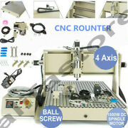 Usb 4-axis Cnc6090 Router Engraver Milling/drilling Metal Wood Cut Machine 1.5kw