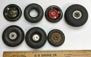Vintage 1930and039s 1960and039s Rubber Car Wheel Group Antique Cast Iron Truck Tractor Tin
