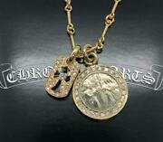Chrome Hearts 2-in-2 Top Baby Angel Medal 22kgf Pave Diamond