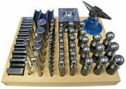 56pc Dapping Punch Set Jumbo Doming And Steel Swage Block Pro Jewelry Forming Kit