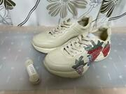 Try-on Only Strawberry Print Light On Leather Sneakers Notation Eu38