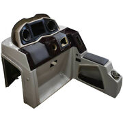 Pontoon Boat Steering Console 180695-01   51 1/4 Inch Gray Dents
