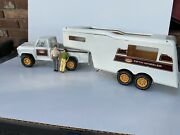 Vintage 1970and039s Tonka Fifth Wheel Camper Trailer Rv Pick Up Truck Set 2100 Used