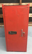 Vintage Snap-on Side Box Tool Cabinet W/ Key And 3 Drawers Snapon Usa