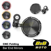 Cnc Sonic Bar End Mirrors For Yamaha T-max 500 01-12 11 10 09 08 07 06 05 04 03