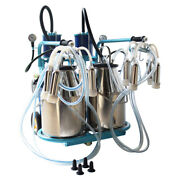 110v Electric Double Barrel Cow And Goat Piston Double Barrel Milking Machine