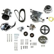 Holley 20-138p Complete Gm Ls Accessory Drive Kit Gm Ls-series Engines High Moun