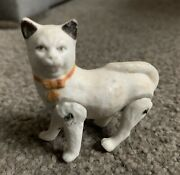 Kitty Cat Jointed Snow Baby Bisque Germany C1910 Vintage Antique Jointed 2andrdquo Mini