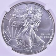 2011-s American Silver Eagle - Ngc Ms70 25th Anniversary Set Label