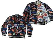Nba All-teams Mens Size Mitchell And Ness Reversible Satin Button Snap Jacket 200