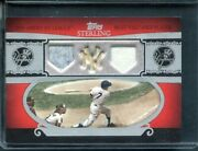 2007 Topps Sterling 2 Mickey Mantle Triple Relic Serial 7/10 Mantle Jersey 7