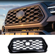 Black Sports Front Bumper Center Hood Grill Mesh 1pc For Toyota Tacoma 2016-2021